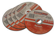 Sealey PTC/100CET5 Cutting Disc ¯100 x 1.2mm 16mm Bore Pack of 5