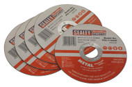 Sealey PTC/115CET5 Cutting Disc ¯115 x 1.2mm 22mm Bore Pack of 5