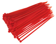 Sealey CT20048P100R Cable Tie 200 x 4.8mm Red Pack of 100