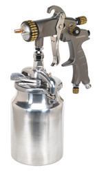 Sealey HVLP02 HVLP Suction Feed Spray Gun 1.7mm Set-Up