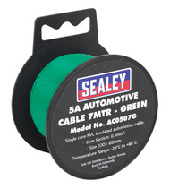 Sealey AC0507G Automotive Cable Thick Wall 5A 7mtr Green