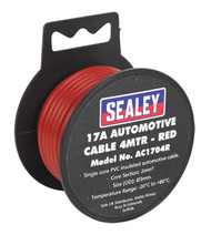 Sealey AC1704R Automotive Cable Thick Wall 17A 4mtr Red