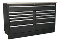Sealey APMS04 Modular Floor Cabinet 11 Drawer 1550mm Heavy-Duty
