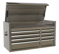 Sealey PTB104008SS Topchest 8 Drawer 1055mm Stainless Steel Heavy-Duty