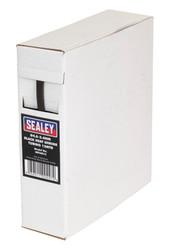 Sealey HST4812 Heat Shrink Tubing Black ¯4.8-2.4mm 12mtr