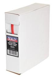 Sealey HST4812R Heat Shrink Tubing Red ¯4.8-2.4mm 12mtr