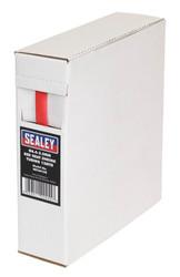 Sealey HST6412R Heat Shrink Tubing Red ¯6.4-3.2mm 12mtr