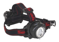 Sealey HT107LED Head Torch 5W CREE XPG LED with Adjustable Focus & Brightness 3 x AA Cell