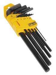 Siegen S01091 Hex Key Set 9pc Long Metric