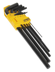 Siegen S01092 Hex Key Set 9pc Extra-Long Metric