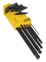 Siegen S01093 Ball-End Hex Key Set 9pc Long Metric