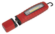 Sealey LED3603R Rechargeable 360¡ Inspection Lamp 3W COB + 3W LED Red Lithium-ion