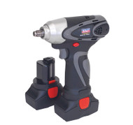"Sealey CP6001 Cordless Impact Wrench 14.4V 2Ah Lithium-ion 3/8""Sq Drive 140Nm - 2 Batteries 40min Charger"