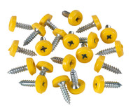 Sealey PTNP2 Number Plate Screw Plastic Enclosed Head ¯4.8 x 18mm Yellow Pack of 50