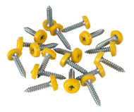 Sealey PTNP6 Number Plate Screw Plastic Enclosed Head ¯4.8 x 24mm Yellow Pack of 50