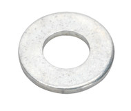 """Sealey FWI100 Flat Washer 5/16"""" x 5/8"""" Table 3 Imperial Zinc BS 3410 Pack of 100"""