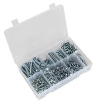Sealey AB061SDH Self Drilling Screw Assortment 410pc Hex Head Zinc DIN 7504K