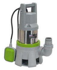 Sealey WPD415 High Flow Submersible Stainless Dirty Water Pump Automatic 417ltr/min 230V