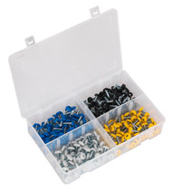 Sealey AB076NP Number Plate Screw Assortment 200pc 4.8mm x 18mm Plastic Enclosed Head