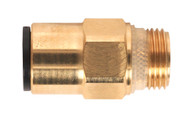 "Sealey JGBC1238 Brass SuperThread Straight Adaptor 12mm x 3/8""BSP Pack of 2"