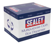 Sealey SCP150 Multipurpose Paper Wipe in Polyflute Dispenser Box - Smooth White 75gsm 150 Sheets