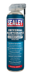 Sealey SCS018 Universal Maintenance Lubricant with Easy-Straw Spray Head & PTFE 500ml Pack of 6