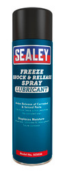 Sealey SCS036 Freeze Shock & Release Spray Lubricant 500ml Pack of 6