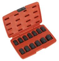 """Sealey AK5614M Impact Socket Set 13pc 1/2""""Sq Drive 12pt"""