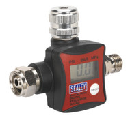 Sealey ARD01 On-Gun Air Pressure Regulator/Gauge Digital