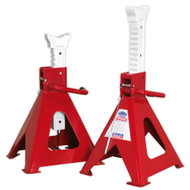 Sealey AAS10000 Axle Stands (Pair) 10tonne Capacity per Stand Auto Rise Ratchet