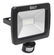 Sealey LED088 Floodlight with Wall Bracket & PIR Sensor 50W SMD LED 230V