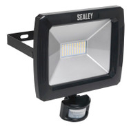 Sealey LED089 Floodlight with Wall Bracket & PIR Sensor 70W SMD LED 230V