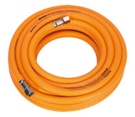 "Sealey AHHC10 Air Hose 10mtr x ¯8mm Hybrid High Visibility with 1/4""BSP Unions"