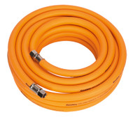 "Sealey AHHC1038 Air Hose 10mtr x ¯10mm Hybrid High Visibility with 1/4""BSP Unions"