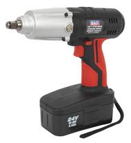 "Sealey CP2400MH Cordless Impact Wrench 24V 2Ah Ni-MH 1/2""Sq Drive 325lb.ft"