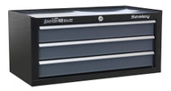 Sealey AP3503TB Mid-Box 3 Drawer with Ball Bearing Runners - Black/Grey
