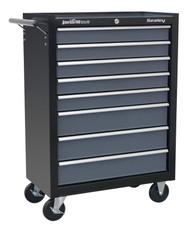 Sealey AP3508TB Rollcab 8 Drawer with Ball Bearing Runners - Black/Grey