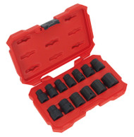 "Sealey AK5616M Impact Socket Set 13pc 1/2""Sq Drive Lock-Onª 6pt Metric"