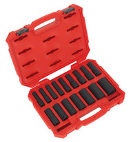 "Sealey AK5817M Impact Socket Set 16pc 1/2""Sq Drive Deep Lock-Onª 6pt Metric"