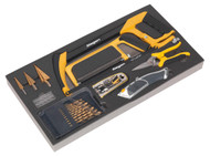 Siegen S01133 Tool Tray with Cutting & Drilling Set 28pc
