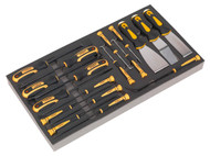 Siegen S01136 Tool Tray with Hook & Scraper Set 18pc