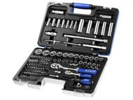 Britool Expert BRIE034805B - Socket & Accessory Set of 98 Metric 1/4 & 1/2in Drive