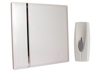 Byron - BY401W Wirefree Wall-Mounted Chime Kit 60m White