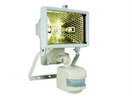 Byron BYRES120W - ES120W Halogen Floodlight with PIR White 120 Watt