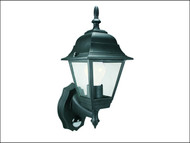 Byron BYRES94 - ES94 4-Panel Coach Lantern With PIR Black