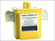 Carroll & Meynell C/M15002 - 1500/2 Transformer Twin Outlet Rating 1.50Kva Continuous 750va