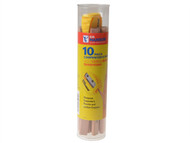C H Hanson CHH00213 - Carpenter's Pencils Tube of 10 + VersaSharp Sharpener