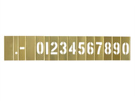 C H Hanson CHH10011 - 2in Brass Stencil Set Numbers 15-Piece Set