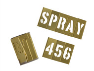 C H Hanson CHH10073 - 3in Brass Stencils Letters/Numbers 45-Piece Set
