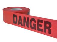 C H Hanson CHH14998 - Heavy Grade Barricade Tape - Danger Red 305m (1000ft)
